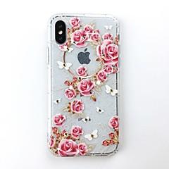 Недорогие Кейсы для iPhone 7 Plus-Кейс для Назначение Apple iPhone X / iPhone 8 Своими руками Кейс на заднюю панель Сияние и блеск Мягкий ТПУ для iPhone X / iPhone 8 Pluss / iPhone 8
