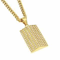 Недорогие Ожерелья-Муж. Цирконий Стильные Ожерелья с подвесками - Позолота, нержавеющий Стиль, модный, Хип-хоп Cool Золотой 70 cm Ожерелье Бижутерия 1шт Назначение Свидание, Для улицы