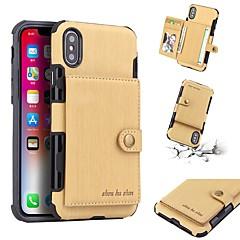 Недорогие Кейсы для iPhone 6-Кейс для Назначение Apple iPhone X / iPhone 8 Кошелек / Бумажник для карт / Защита от удара Кейс на заднюю панель Однотонный Твердый Кожа PU для iPhone X / iPhone 8 Pluss / iPhone 8