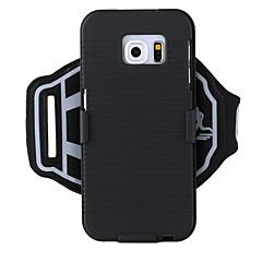 Недорогие Универсальные чехлы и сумочки-Кейс для Назначение SSamsung Galaxy S9 / S7 Спортивные повязки / Защита от удара С ремешком на руку Однотонный Твердый ПК для S6 edge plus / S6 edge / S6