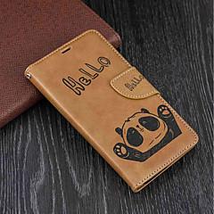 Недорогие Чехлы и кейсы для Nokia-Кейс для Назначение Nokia Nokia 5 / Nokia 3 Кошелек / Бумажник для карт / со стендом Чехол Панда Твердый Кожа PU для Nokia 5 / Nokia 3 / Nokia 1