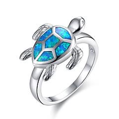 preiswerte Ringe-Damen Synthetischer Opal Skulptur Statement-Ring - vergoldet Stilvoll, Einzigartiges Design, Klassisch 6 / 7 / 8 Silber Für Halloween / Neujahr