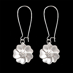 preiswerte Ohrringe-Damen Skulptur Tropfen-Ohrringe - Blume Künstlerisch, Einfach, Retro Silber Für Party / Abend / Geschenk / Abiball