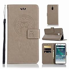 Недорогие Чехлы и кейсы для Nokia-Кейс для Назначение Nokia Nokia 2.1 Кошелек / Бумажник для карт / со стендом Чехол Сова Твердый Кожа PU для Nokia 2.1