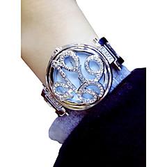 abordables Relojes Florales-Mujer Reloj de Pulsera Cuarzo Cronógrafo Luminoso Encantador Aleación Banda Analógico Flor Elegante Plata / Dorado - Dorado Plata / La imitación de diamante