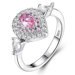 preiswerte Ringe-Damen Kubikzirkonia Stapel Ring - Platiert, S925 Sterling Silber Romantisch 5 / 6 / 7 Silber Für Geschenk / Valentinstag