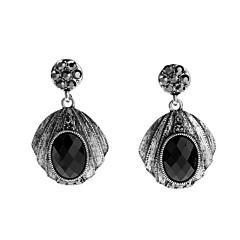 preiswerte Ohrringe-Damen Edelstein Naturschwarz Stilvoll / Hohl Tropfen-Ohrringe - Silber Gothic, nette Art, Viktorianisch Schwarz Für Verlobung / Festival