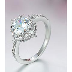 preiswerte Ringe-Damen Stilvoll Ring - Platiert, Diamantimitate Stern Modisch, Elegant 6 / 7 / 8 Silber Für Verabredung / Geburtstag