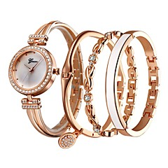 preiswerte Damenuhren-Damen damas Armband-Uhr Quartz Armbanduhren für den Alltag Legierung Band Analog Freizeit Silber / Rose - Silber Rotgold / Weiß Schwarz / Rotgold