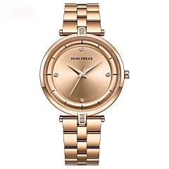お買い得  レディース腕時計-女性用 リストウォッチ クォーツ 夜光計 ステンレス バンド ハンズ ファッション ブラック / ブルー / ゴールド - ブラック ブルー ローズゴールド