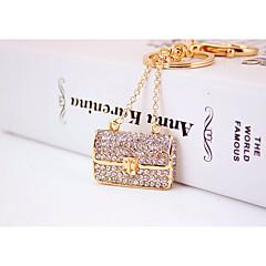 preiswerte Schlüsselanhänger-Schlüsselanhänger Gold Geometrische Form Zirkon, Aleación Süß, Modisch Für Alltag / Verabredung