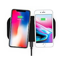 abordables Cargadores para Teléfono-cargador eléctrico inalámbrico estándar del qi de la aleación del cinc del cojín de carga nueve nueve nt8 para iphone8 / x