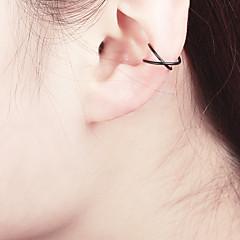 preiswerte Ohrringe-Damen Übergang Klips Ohr-Stulpen - Kreativ, Buchstabe Einfach, Einzigartiges Design, nette Art Gold / Schwarz / Silber Für Alltag Nacht Besondere Anlässe Ausgehen