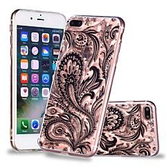 Недорогие Кейсы для iPhone 6-Кейс для Назначение Apple iPhone X / iPhone 8 Plus Прозрачный / С узором Кейс на заднюю панель Кружева Печать / Перья Мягкий ТПУ для iPhone X / iPhone 8 Pluss / iPhone 8