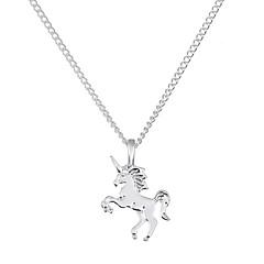 preiswerte Halsketten-Damen Vintage Stil / Stilvoll Anhängerketten - Pferd Stilvoll, Klassisch, Retro Gold, Silber 41 cm Modische Halsketten 1pc Für Geschenk, Alltag
