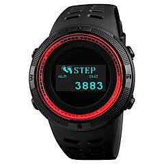 preiswerte Armbanduhren für Paare-SKMEI Herrn Paar Sportuhr digital 50 m Wasserdicht Bluetooth Kalender PU Band digital Luxus Modisch Schwarz - Rot Blau Gold / Kompass / Stopuhr