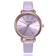 preiswerte Damenuhren-Damen Armbanduhr Chinesisch Neues Design / Armbanduhren für den Alltag / Imitation Diamant PU Band Freizeit / Modisch Schwarz / Weiß / Silber
