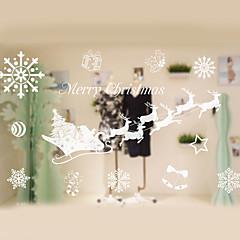 abordables Tratamientos Para Ventanas-Ventana de película y pegatinas Decoración Navidad Estampado / Vacaciones CLORURO DE POLIVINILO Adhesivo para Ventana / Sala / Shop / Cafe
