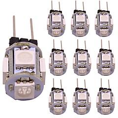 お買い得  LED 電球-WeiXuan 10個 1 W 80 lm G4 LED2本ピン電球 T 5 LEDビーズ SMD 5050 装飾用 温白色 / クールホワイト / レッド 12 V
