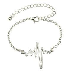 preiswerte Armbänder-Damen Einzelkette Ketten- & Glieder-Armbänder - Kreativ Grundlegend, Modisch Armbänder Gold / Schwarz / Silber Für Alltag / Schultaschen