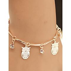 preiswerte Armbänder-Damen Stilvoll Armband mit Anhänger - Diamantimitate Eule Klassisch Armbänder Gold Für Alltag