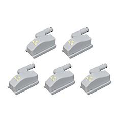 お買い得  LED アイデアライト-BRELONG® 5個 LEDナイトライト クールホワイト その他のバッテリー駆動 デコレーション / 食器棚 / ワードローブ <5 V