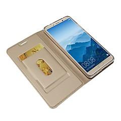 Недорогие Чехлы и кейсы для Huawei Mate-Кейс для Назначение Huawei Mate 10 pro / Mate 10 Кошелек / Бумажник для карт / со стендом Чехол Однотонный Твердый Кожа PU для Mate 10 / Mate 10 pro / Mate 10 lite