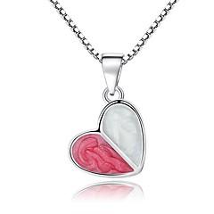 preiswerte Halsketten-Damen Klassisch Stilvoll Anhängerketten - Harz Herz Süß, Modisch Silber 45 cm Modische Halsketten Schmuck 1pc Für Party, Alltag