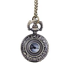 abordables Relojes de Bolsillo-Hombre Reloj de Bolsillo Huecograbado Acero Inoxidable Banda Vintage Bronce