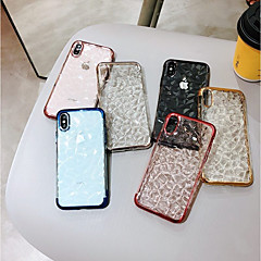abordables Fundas para iPhone X-Funda Para Apple iPhone X / iPhone 8 Plus Cromado / Transparente Funda Trasera Diseño Geométrico Suave TPU para iPhone X / iPhone 8 Plus / iPhone 8