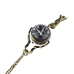 abordables Relojes de Bolsillo-Hombre Reloj de Bolsillo Cool Acero Inoxidable Banda Vintage Bronce