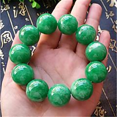 preiswerte Armbänder-Herrn Jade Klassisch Glasperlen Strang-Armbänder - Kugel Asiatisch, Luxus, Klassisch Armbänder Grün Für Karnival Strasse