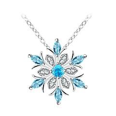 preiswerte Halsketten-Damen Klassisch / Stilvoll Anhängerketten - Diamantimitate Schneeflocke Stilvoll, Klassisch Silber 35+5 cm Modische Halsketten Schmuck 1pc Für Alltag