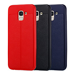 お買い得  Samsung その他の機種用ケース/カバー-ケース 用途 Samsung Galaxy J7 Duo / J6 耐衝撃 / 耐埃 フルボディーケース ソリッド ソフト TPU のために J8 / J7 Duo / J7 Prime