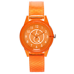 preiswerte Damenuhren-Damen Armbanduhr Quartz Armbanduhren für den Alltag Plastic Band Analog Modisch Minimalistisch Schwarz / Weiß / Rot - Rot Grün Rosa