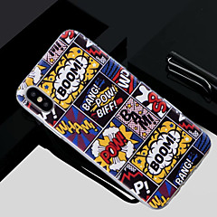 Недорогие Кейсы для iPhone 5-Кейс для Назначение Apple iPhone X / iPhone 8 Полупрозрачный / С узором Кейс на заднюю панель Слова / выражения Мягкий ТПУ для iPhone X / iPhone 8 Pluss / iPhone 8