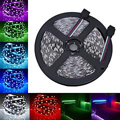preiswerte LED Lichtstreifen-HKV 5m Flexible LED-Leuchtstreifen 300 LEDs 5050 SMD RGB Schneidbar / Verbindbar / Selbstklebend 12 V