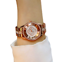 abordables Relojes Elegantes-Mujer Reloj de Pulsera Cronógrafo / Luminoso / Reloj Casual Aleación Banda Moda / Elegante Chocolate