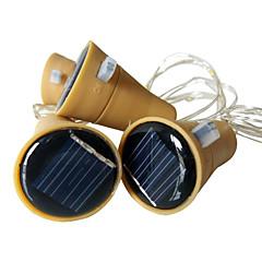 お買い得  LED ストリングライト-1m ストリングライト 10 LED SMD 0603 温白色 / ホワイト / マルチカラー 防水 / ソーラー駆動 / 装飾用 ソーラー駆動 3本