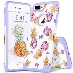 Недорогие Кейсы для iPhone 7 Plus-BENTOBEN Кейс для Назначение Apple iPhone 8 Plus / iPhone 7 Plus Защита от удара / IMD / С узором Кейс на заднюю панель Растения / Полосы / волосы / Фрукты Мягкий ПК / силикагель для iPhone 8 Pluss