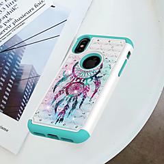 Недорогие Кейсы для iPhone-Кейс для Назначение Apple iPhone X / iPhone 8 Защита от удара / Стразы / С узором Кейс на заднюю панель Ловец снов Твердый ПК для iPhone X / iPhone 8 Pluss / iPhone 8