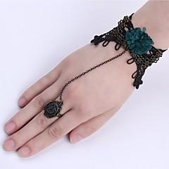 preiswerte Armbänder-Damen Ausgeschnitten Ring-Armbänder - Spitze Blume Retro, Modisch Armbänder Schwarz Für Weihnachten Halloween