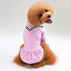 お買い得  犬用ウェア&アクセサリー-犬用 / 猫用 セーター 犬用ウェア ソリッド ブラック / ピンク コットン コスチューム ペット用 男女兼用 カジュアル/普段着 / ウォームアップ