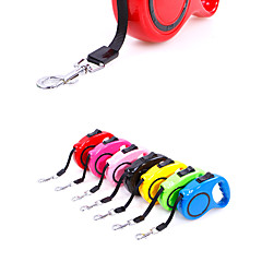 cheap Dog Collars, Harnesses & Leashes-Dogs Leash / Tag Retractable / Adjustable / Retractable / For Dog / Cat Solid Colored ABS Blue / Pink / Black