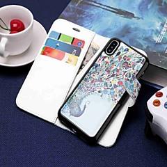 Недорогие Кейсы для iPhone 6-Кейс для Назначение Apple iPhone XR / iPhone XS Max Кошелек / Бумажник для карт / со стендом Чехол Животное Твердый Кожа PU для iPhone XS / iPhone XR / iPhone XS Max