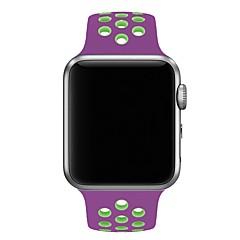 preiswerte Herrenuhren-Silica Gel Uhrenarmband Gurt für Apple Watch Series 3 / 2 / 1 Schwarz 23cm / 9 Zoll 2.1cm / 0.83 Inch