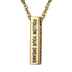 Недорогие Ожерелья-Муж. Стильные Ожерелья с подвесками - Нержавеющая сталь Мода Золотой, Черный, Серебряный 55 cm Ожерелье Бижутерия 1шт Назначение Подарок, Повседневные