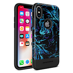 Недорогие Кейсы для iPhone X-bentoben case for apple iphone x / iphone xs plating / imd / pattern back cover lines / wave / fruit hard tpu / pc для iphone xs / iphone x