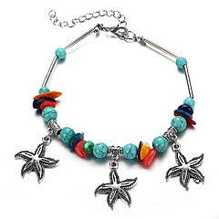 preiswerte Armbänder-Damen Retro Armband mit Anhänger - Seestern Tropisch, Boho Armbänder Silber Für Büro & Karriere / Festival