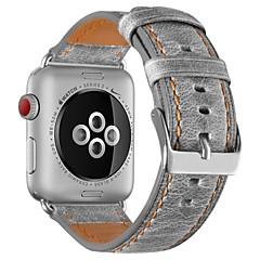 お買い得  腕時計ベルト-カーフヘアー 時計バンド ストラップ のために Apple Watch Series 3 / 2 / 1 ブラウン / グレー 23センチメートル / 9インチ 2.1cm / 0.83 Inch